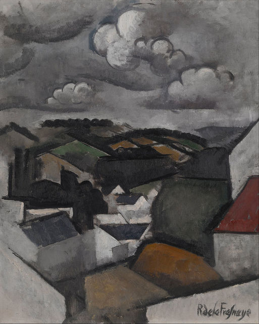 Roger de la Fresnaye, 'Landscape with a Village, The Hills Beyond Meulan', 1911, Indianapolis Museum of Art at Newfields