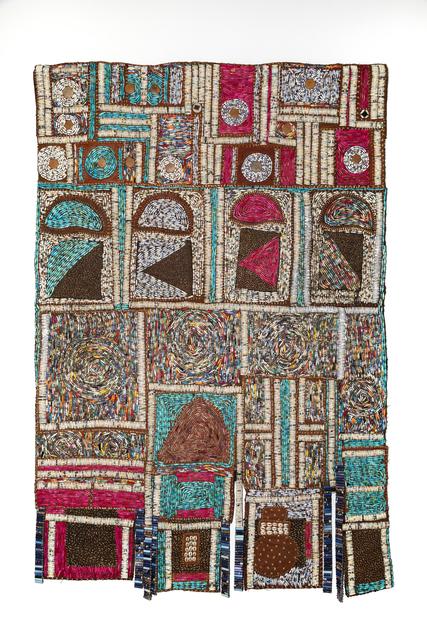 Sanaa Gateja, 'Shopping', 2019, Textile Arts, Paper and acrylic stitched on bark cloth, 50 Golborne