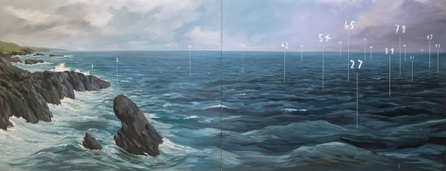, 'Coastal Fathom Painting ,' 2016, Bryce Wolkowitz Gallery