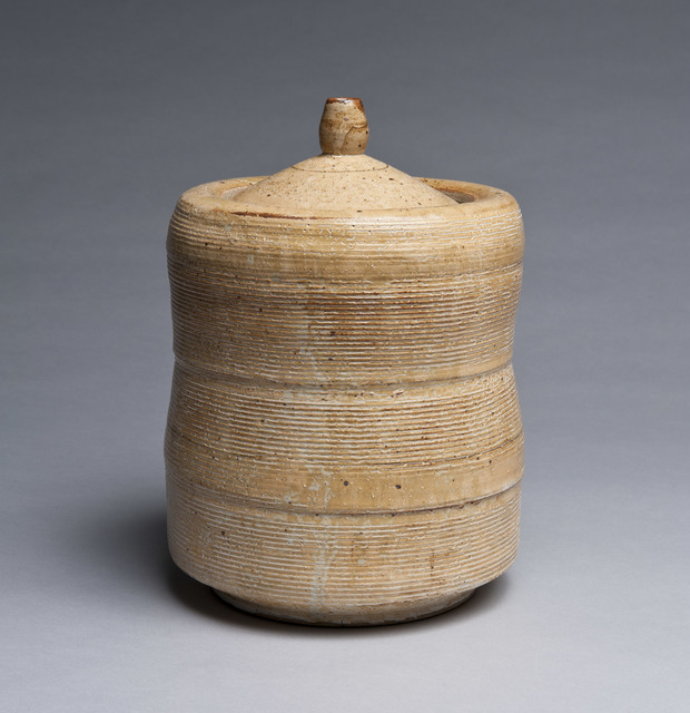 , 'White Lidded Jar with Horizontal Banding,' 2016, Lacoste Gallery