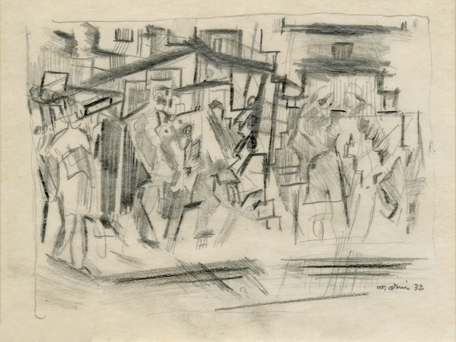 , 'Figures Downtown, New York City,' 1932, Keith Sheridan, LLC