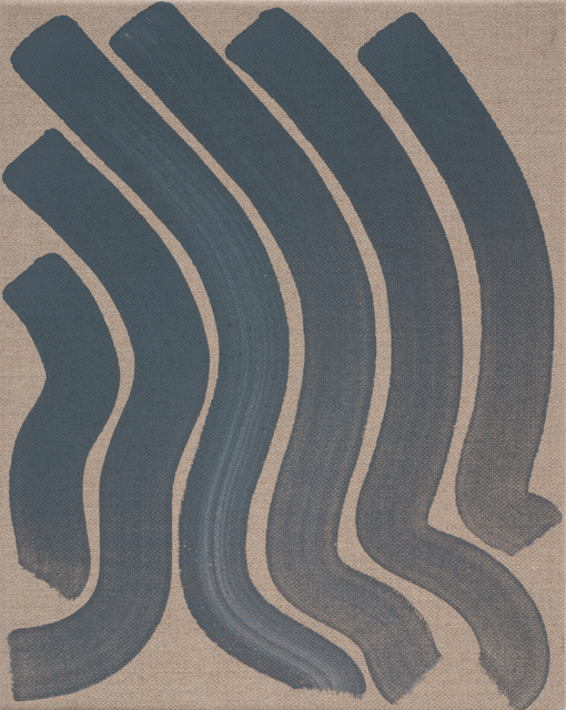 , 'Untitled (Blue Strokes),' 2012, Roberts & Tilton