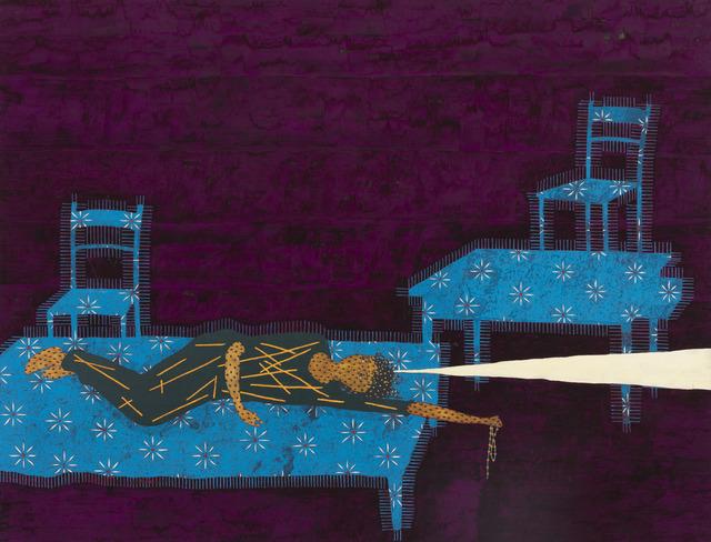 Stephen Chambers RA, 'Animated Figure 2', 1999, Painting, Oil on canvas, Flowers
