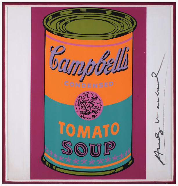 Andy Warhol, 'Campbell's Soup Can - Tomato', 1968, Print, Colored serigraph on paper, Bertolami Fine Arts