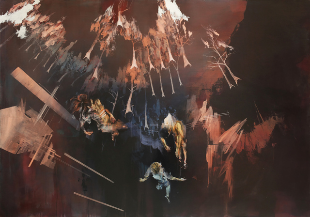 , 'Forest Fire Seen From Below,' 2015, Lazinc