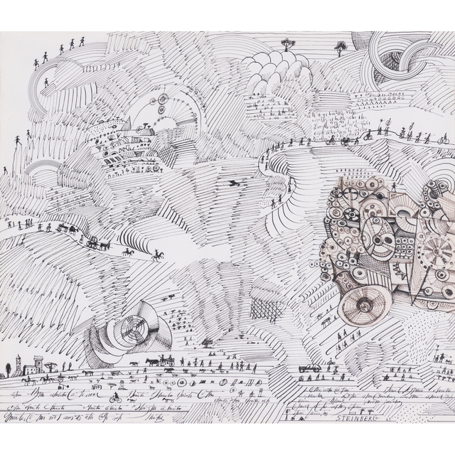 Saul Steinberg, 'Untitled, (Paysage égyptien)', 1965, PIASA