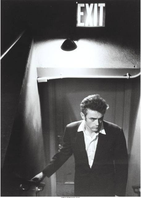 Roy Schatt, 'James Dean under Exit sign', Heritage Auctions
