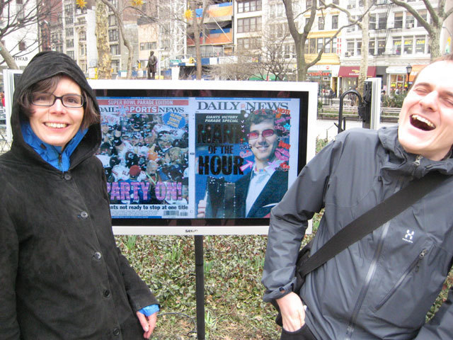 , 'Online Newspapers: The Daily News,' 2008, Madison Square Park