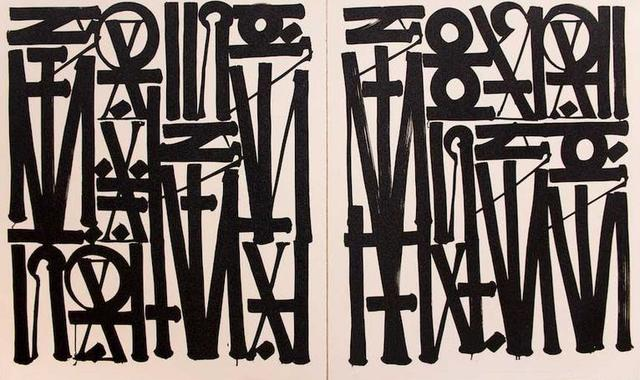 RETNA, 'Say My Name, You Can See Me (Diptych)', 2017, Vertu Fine Art