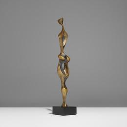 Biomorphic Cast Bronze Figure