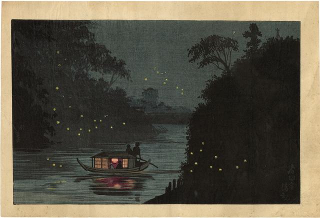 Kobayashi Kiyochika 小林清親, 'Fireflies at Ochanomizu', ca. 1879, Egenolf Gallery Japanese Prints & Drawing