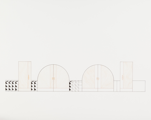 , 'Dessin à la règle - Série Miami,' 2014, Galerie Laurent Mueller