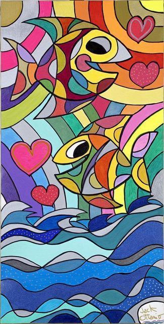 Jack Ottanio, 'Happy fishes', 2021, Painting, Acrylic on canvas, SmART Coast Gallery