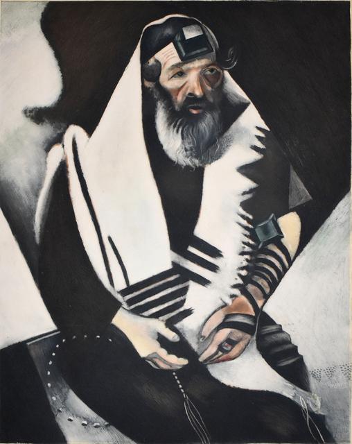 Marc Chagall, 'The Rabbi of Vitebsk (The Praying Jew)   Le Rabbin de Vitebsk (Le Juif priant)', 1924, Gilden's Art Gallery