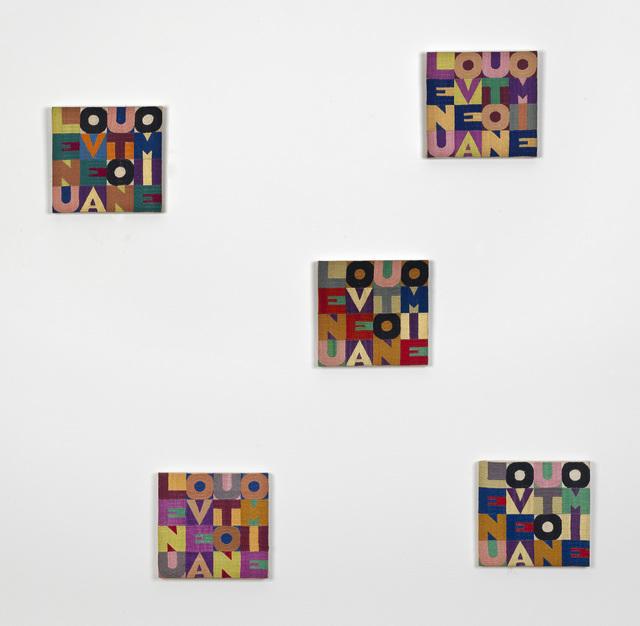 Alighiero Boetti, 'Le Nuove Autonomie', 1979, Ben Brown Fine Arts
