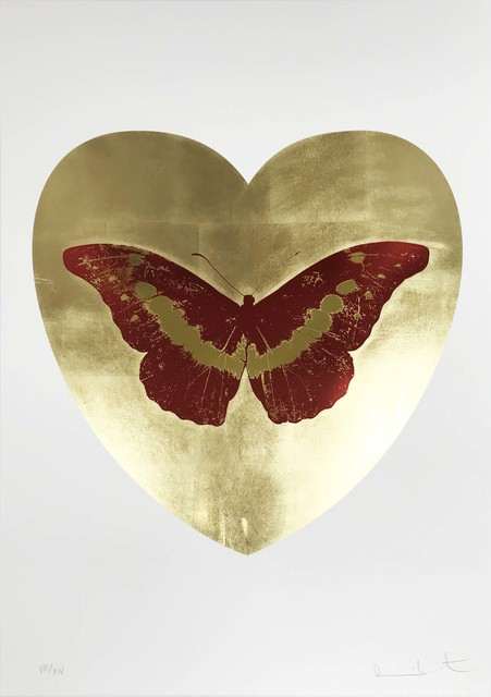 Damien Hirst, 'I Love You - Gold Leaf/Poppy Red/Oriental Gold', 2015, Hamilton-Selway Fine Art