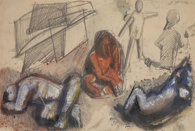 , 'Composition with five figures,' 1944, Brun Fine Art