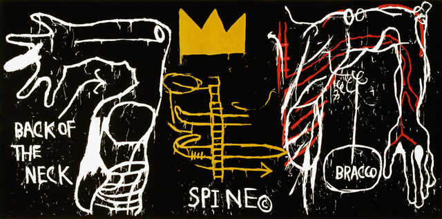 Jean-Michel Basquiat, 'Back of Neck', 1983, Print, Screenprint with hand-coloring on paper, Guggenheim Museum