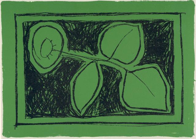 , 'Flor sobre verd,' 1987, Polígrafa Obra Gráfica