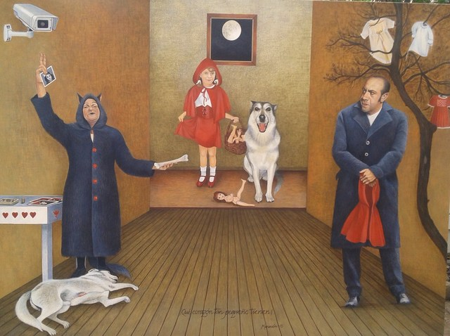 , 'LITTLE RED RIDING HOOD AND THE BIG BAD WORLD,' ca. 2016, Jorge Mendez Gallery