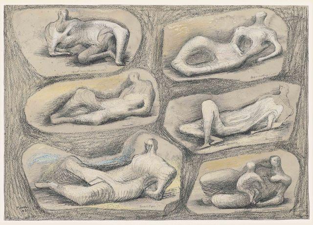 , 'Reclining Figures,' 1943, DICKINSON