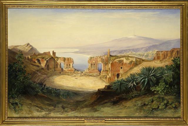 , 'Taormina and Mount Etna,' 1882, DICKINSON