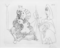 Pablo Picasso, MOUSQUETAIRE ET ODALISQUE, MEDUSE, PLATE 47 FROM SERIES 156 (BLOCH 1902)