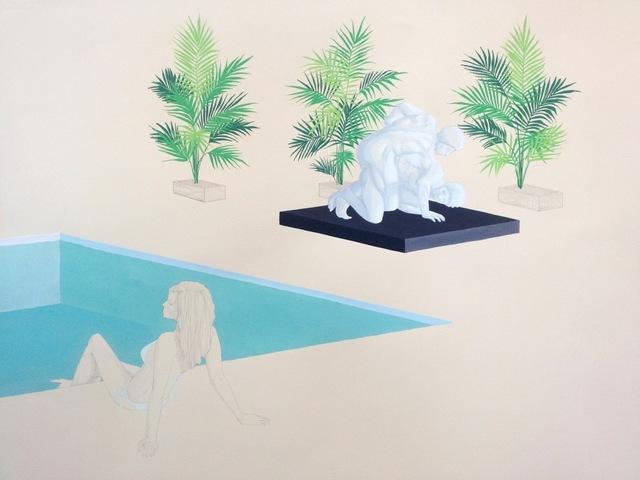 , 'Dionysus Poolside (Wrestlers),' 2015, Sara Nightingale Gallery