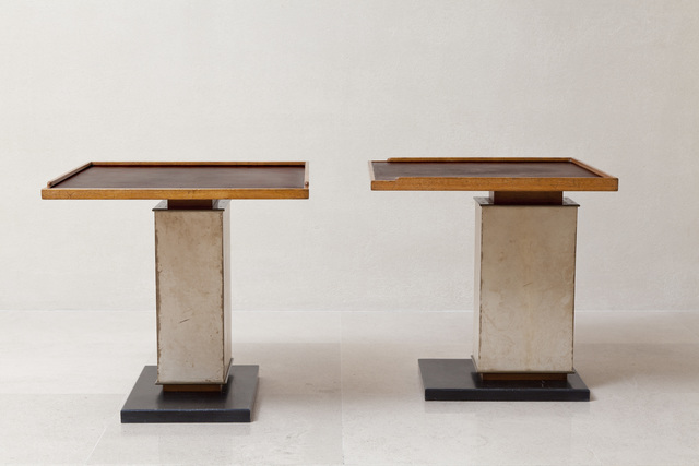 , 'Pair of tables,' ca. 1940, Galerie L'Arc en Seine