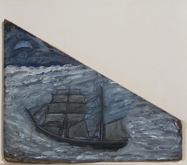 , 'Blue Seascape with Boat,' 1930, Osborne Samuel