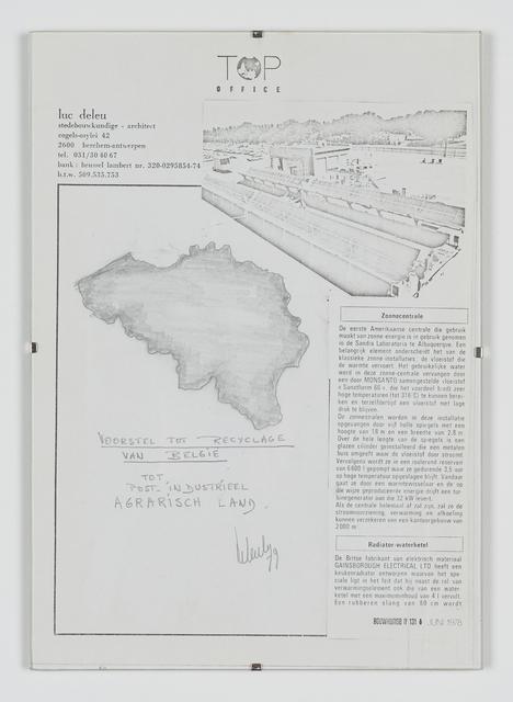 , 'Voorstel tot recyclage van België tot Post-industrieel agrarisch land,' 1978, Tatjana Pieters