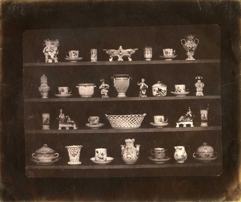 William Henry Fox Talbot. Articles of China, 1844. Salt print from calotype negative. Collection of Michael Mattis and Judy Hochberg.