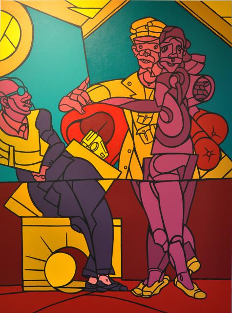 , 'Ascoltando la radio ,' 2012, Galleria Tega
