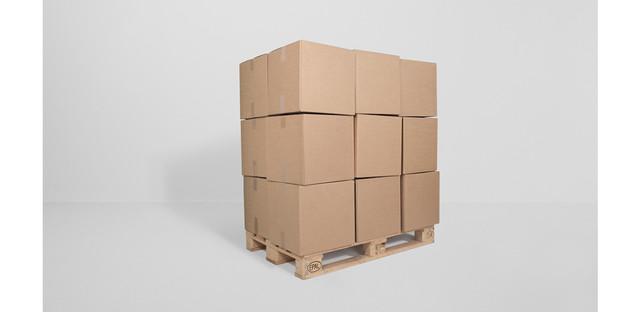 , '36 prepared dc-motors, cardboard boxes 40x40x40cm, palette,' 2013, Galerie SOON