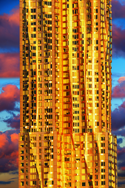 Mitchell Funk, 'Frank Gehry in Gold. Golden Skyscraper.   ', 2019, Robert Funk Fine Art