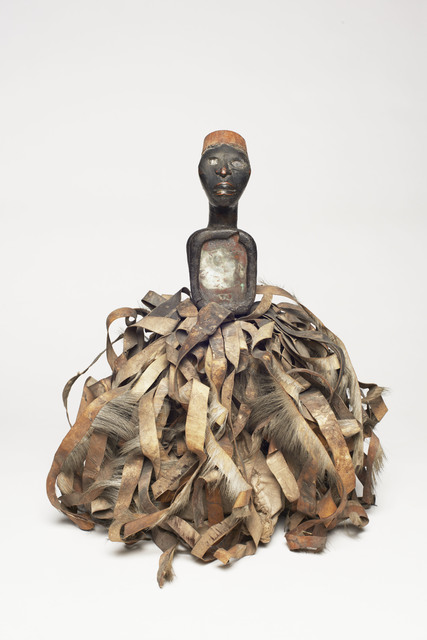 , 'Male figure with strips of hide (Nkisi),' Kongo-19th Century, Bard Graduate Center Gallery