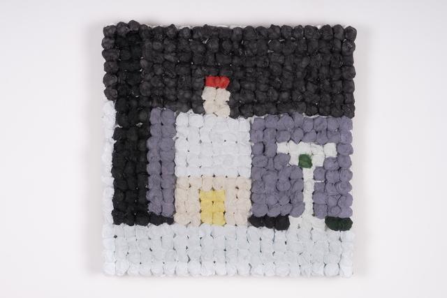 Joe Zucker, 'Bella di Cerignola', 2018, Painting, Burlap, cotton, acrylic, Thomas Brambilla
