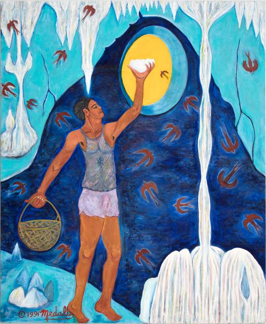 David Medalla, 'Taong kumukuha ng puhad ng balinsasayan (Man gathering the swift bird's nest)', 1986-1991, Rossi & Rossi
