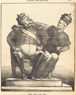 Honoré Daumier, 'Trop étroit pour deux', 1870, National Gallery of Art, Washington, D.C.