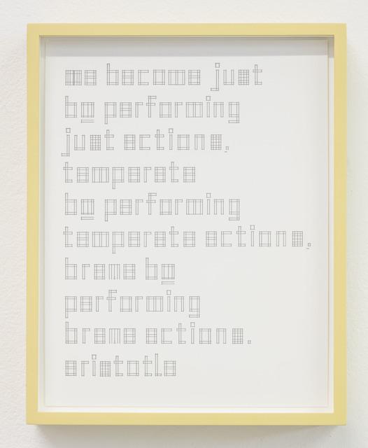 , 'dd/mm/yyyy,' 2015, Susan Hobbs Gallery