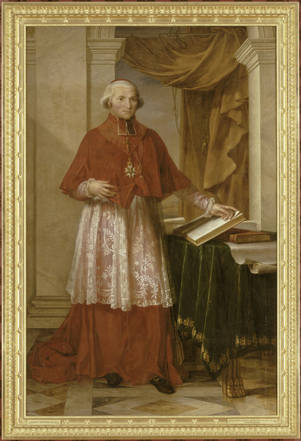 , 'Portrait du cardinal Fesch en grand aumônier de l'Empire (Portrait of Cardinal Fesch, Grand Chaplain of the Empire),' 1806, Château de Fontainebleau