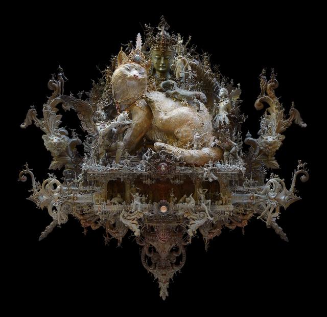 Kris Kuksi, 'Tabby Tyrant', 2021, Sculpture, Mixed media assemblage, Joshua Liner Gallery
