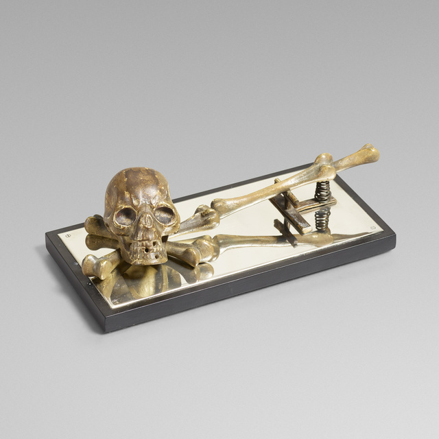 'Memento mori note holder', Wright
