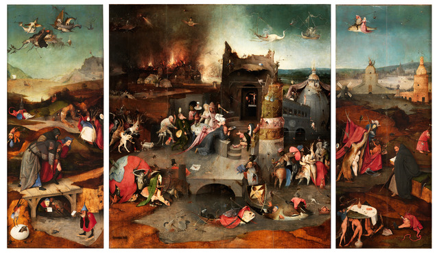 , 'Triptych of the Temptation of Saint Anthony,' 1506, Museo Nacional del Prado