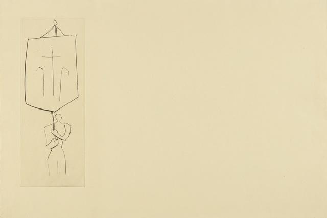 Pablo Picasso, 'Le Frère mendiant: Prêtre Jean. Une Croix (B. 897; Ba. 1018)', 1958, Print, Drypoint, Sotheby's