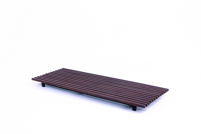 Charlotte Perriand, 'Cansado bench in mahogany and metal', 1958, Leclere