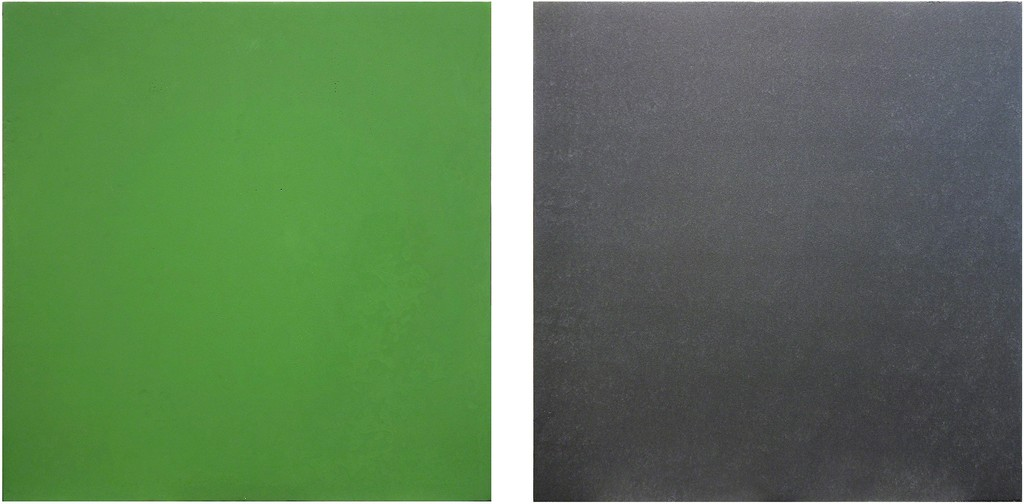 Untitled Diptych (Green/Black)
