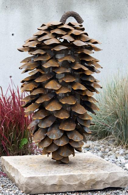 Floyd Elzinga, 'Vertical Fire Cone With Stone Base', 2018, Oeno Gallery