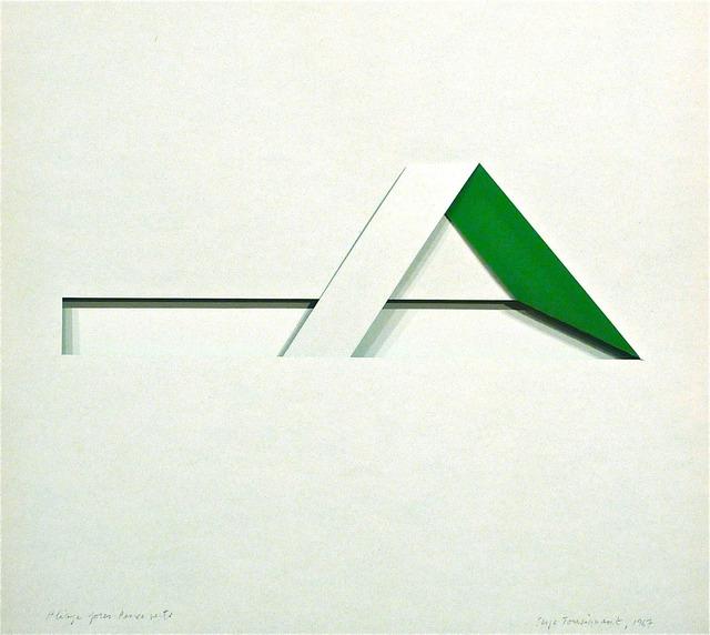 , 'Pliage pour pince verte,' 1967, Galerie Graff