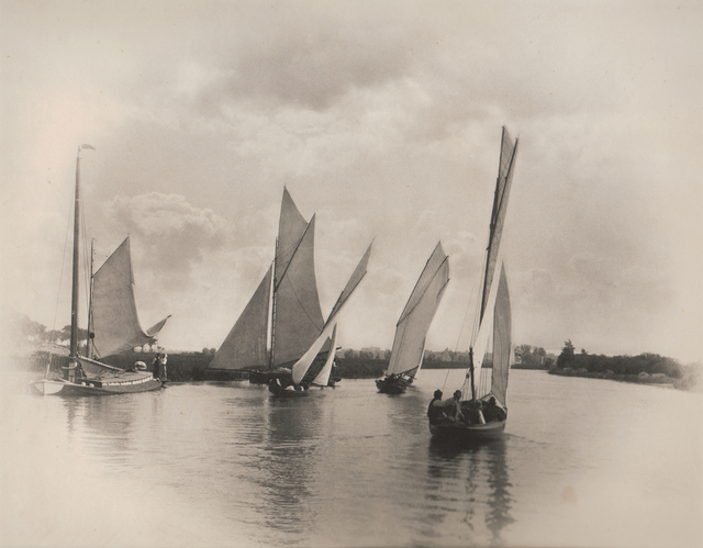 , 'Sailing Match at Horning,' Neg. date: 1885 c. / Print date: 1885 c., Alan Klotz Gallery
